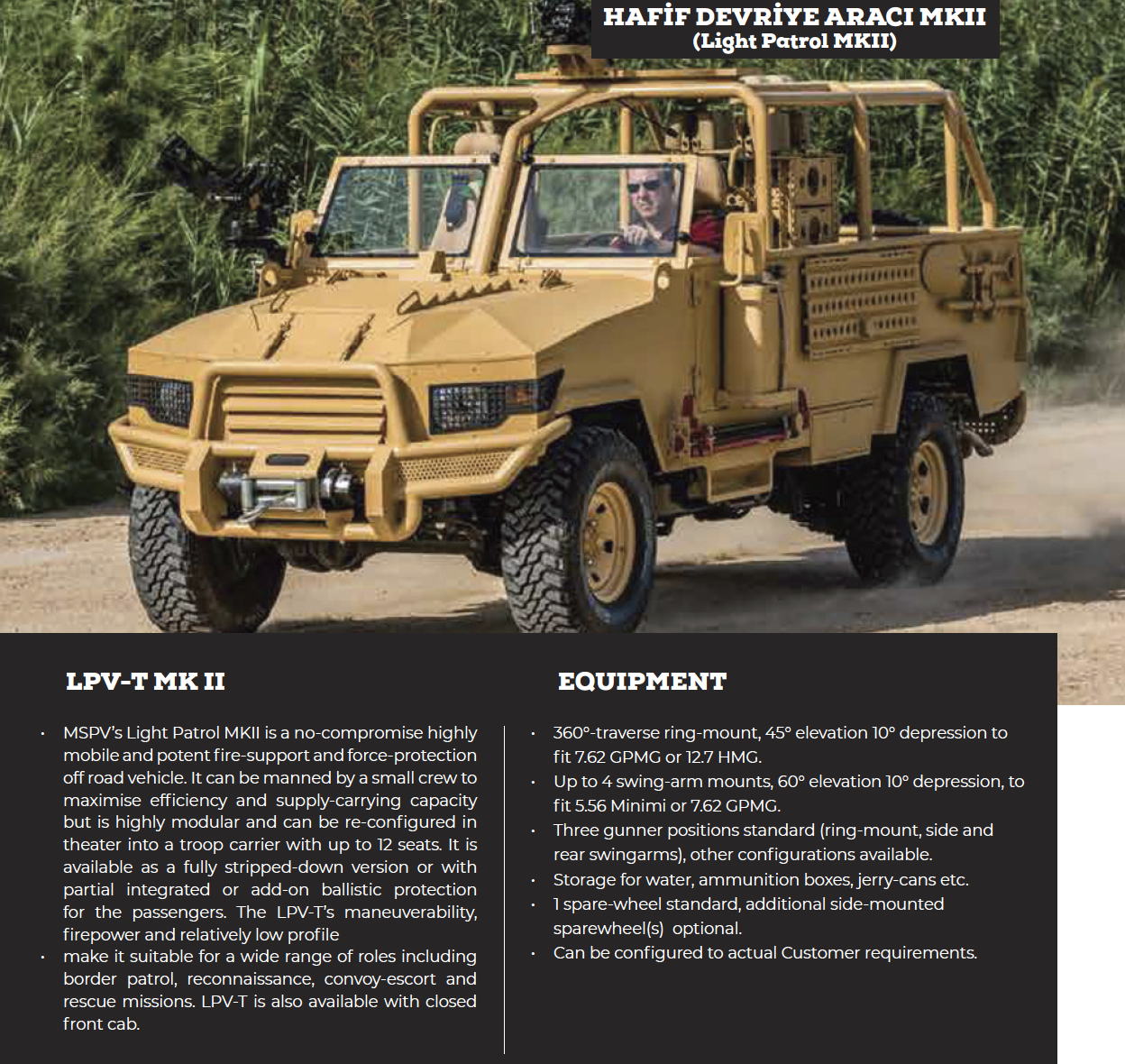Hafif Devriye Aracı (Light Patrol) MKII