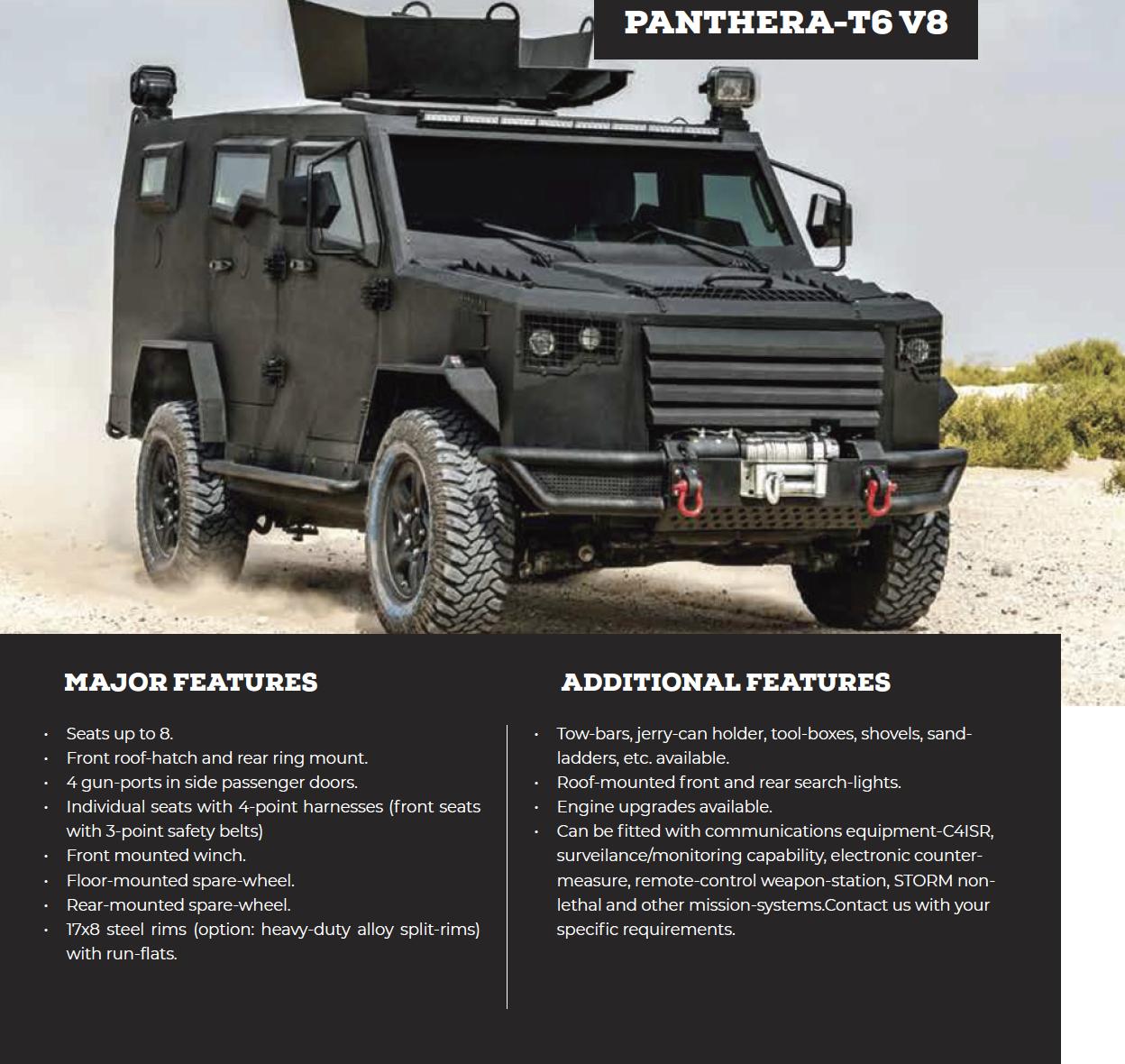 Panthera-T6 V8
