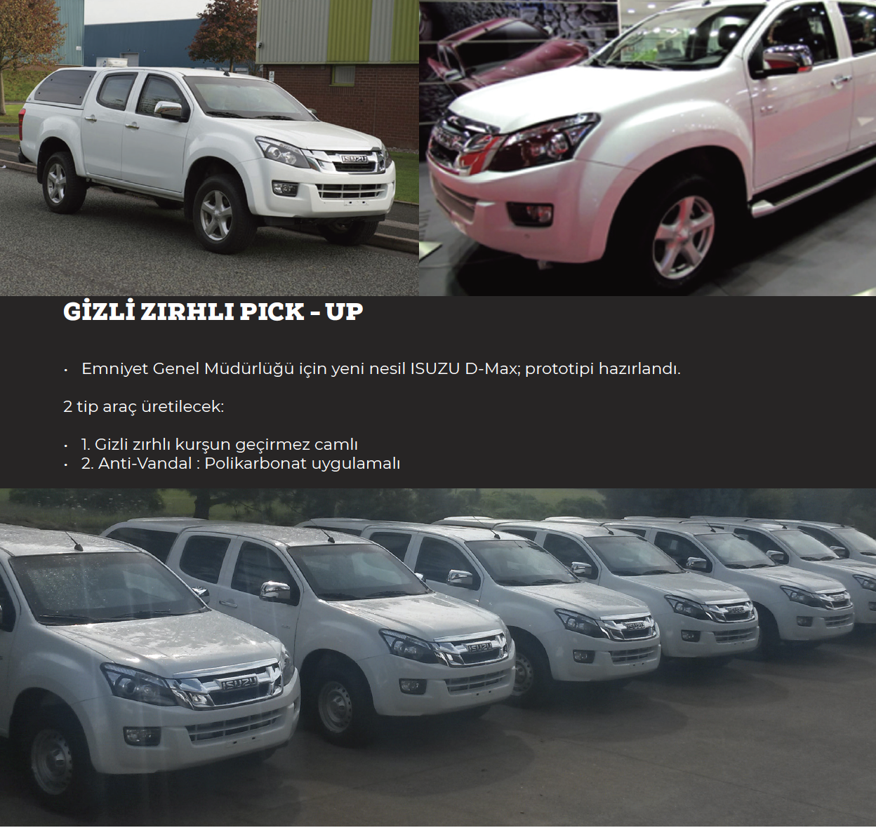Gizli Zırhlı Pick - Up